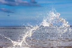 Gocce di acqua bianche Fotografia Stock