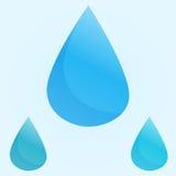 Gocce di acqua blu di vettore Fotografie Stock Libere da Diritti