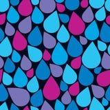 Gocce di acqua blu, fondo continuo di vettore di piovosità H2o Fotografia Stock Libera da Diritti