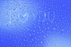 Gocce di acqua fondo, immagine Fotografie Stock Libere da Diritti