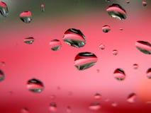 Gocce di acqua - macro marcata Fotografia Stock