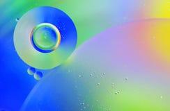 Gocce di acqua in olio Fotografia Stock Libera da Diritti