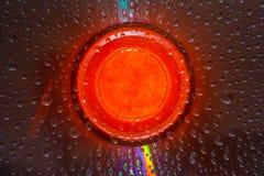 Gocce di acqua su un CD Fotografia Stock Libera da Diritti