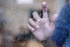 gocce di acqua su un vetro Fotografia Stock Libera da Diritti
