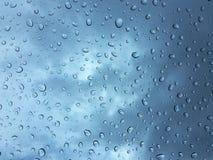 Gocce di acqua su vetro Fotografia Stock Libera da Diritti