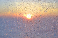 Gocce di acqua sul vetro Fotografia Stock Libera da Diritti