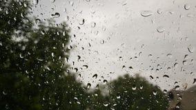 Gocce di acqua sulla finestra dopo la pioggia Immagini Stock Libere da Diritti