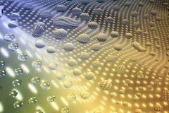 Gocce di acqua uniche su vetro Immagine Stock