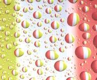 Gocce di acqua variopinte Immagine Stock Libera da Diritti