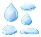 Gocce di acqua Vettore Immagini Stock