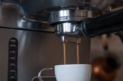 Gocce di caffè Fotografie Stock