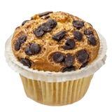 Gocce di cioccolato del bigné del muffin isolate Immagine Stock Libera da Diritti
