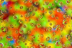 Gocce di colore Fotografia Stock