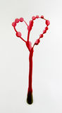 Gocce di inchiostro rosso Fotografia Stock