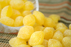 Gocce di limone Fotografia Stock Libera da Diritti