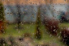 Gocce di pioggia Fotografie Stock Libere da Diritti