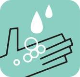 Gocce di pioggia di cattura della mano Fotografia Stock