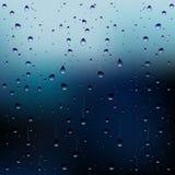 Gocce di pioggia di vettore sulla finestra illustrazione vettoriale