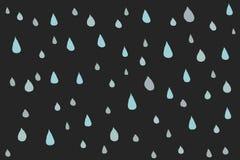 Gocce di pioggia disegnate a mano royalty illustrazione gratis
