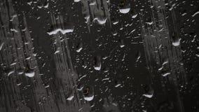 Gocce di pioggia e sbavature su vetro, primo piano Fotografia Stock Libera da Diritti
