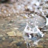 Gocce di pioggia, grande fondo astratto vago delle compresse Fotografie Stock