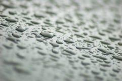 Gocce di pioggia grige Fotografia Stock Libera da Diritti