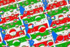 Gocce di pioggia in pieno delle bandiere della Guinea Equatoriale Immagine Stock Libera da Diritti
