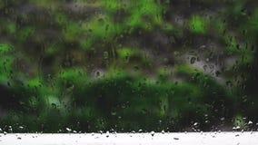 Gocce di pioggia sul vetro archivi video