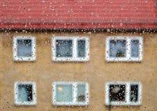 Gocce di pioggia sul vetro di finestra Immagine Stock Libera da Diritti