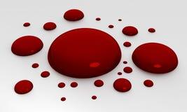 Gocce di sangue Fotografia Stock