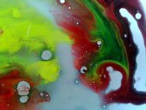 Gocce liquide colorate dell'olio e dell'acqua Immagine Stock Libera da Diritti