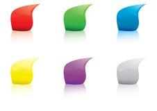 Gocce multicolori royalty illustrazione gratis