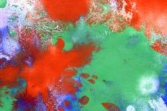Gocce rosse, punti di verde blu Fotografie Stock
