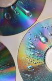 Gocce su CD Fotografia Stock Libera da Diritti