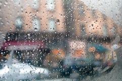 Gocce su una finestra di automobile Immagine Stock Libera da Diritti