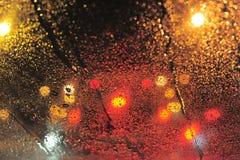 Gocce su vetro Fotografie Stock