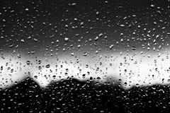 Gocce su vetro Fotografia Stock