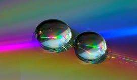 Gocce sul CD-disco Fotografie Stock