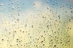 Gocce sul vetro Immagini Stock