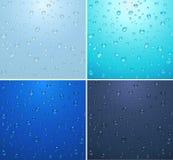 Gocce trasparenti dell'acqua Immagini Stock