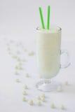 Goccia bianca della caramella del cocktail del frullato del yogurt del latte Fotografia Stock