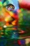 Goccia colorata Fotografia Stock Libera da Diritti