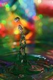 Goccia colorata Immagini Stock