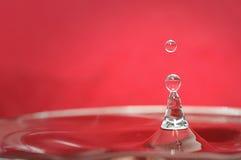 Goccia congelata dell'acqua Fotografia Stock