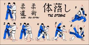 Goccia del corpo di judo Fotografia Stock Libera da Diritti