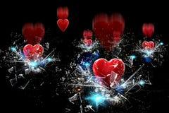 Goccia del cuore Fotografia Stock