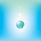 Goccia del globo illustrazione vettoriale