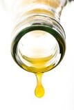 Goccia del succo d'arancia Fotografia Stock