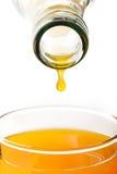 Goccia del succo d'arancia Fotografia Stock Libera da Diritti