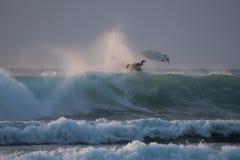 Goccia del surfista Immagini Stock